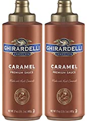 Ghirardelli Chocolate (2) 17 oz Caramel Sauce in a convenient squeeze bottle format Ghirardelli's Caramel Sauce offers a wonderfully rich, caramel flavor Perfectly formulated for use in espresso-based drinks, this sauce is also great as ice cream or ...