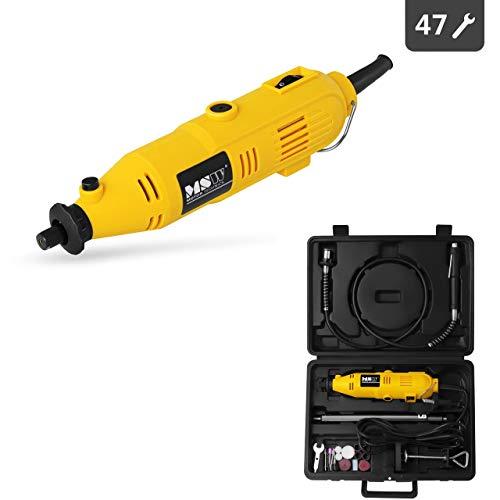 MSW - MULTI-GRIN135.1 - Lijadora de precisión - Eje flexible - Soporte – Accesorios: 47 udds. - 35.000 RPM