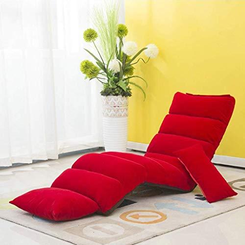 Haushaltsprodukte Möbel Klappboden Stuhl Lounge Schlafsofa Klapp 5 Position verstellbar Lazy High Back Chair Bequemer Schwammsitz mit abnehmbarem Pedal Gaming Chair (Farbe: Dunkel)
