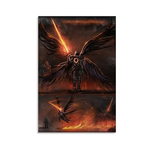Póster y pared de Dark Souls con 3 anillados, 60 x 90 cm