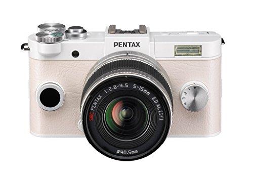 Pentax Q-S1 Systemkamera (12 Megapixel, 7,6 cm (3 Zoll) HD-LCD-Display, bildstabilisiert, DRII Dust Removal System, Full-HD-Video, HDMI) Double Zoom Kit inkl. 5-15 mm und 15-45 mm Objektiv weiß