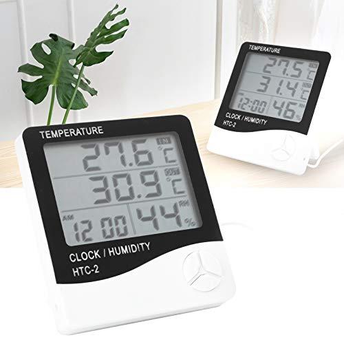 Haowecib Higrómetro, Instrumento de medición Higrómetro electrónico Medidor de Humedad Digital para...