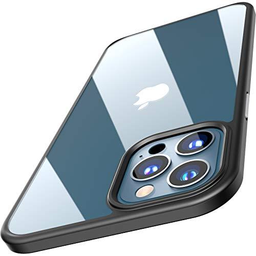 TOZO Compatible para iPhone 12 Pro MAX Funda de 6.7 Pulgadas Hybrid Soft Grip Acabado Mate Panel Trasero Transparente Carcasa Fina Slim Compatible para iPhone 12 Pro MAX Nergo