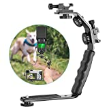 Neewer Camera Video L-Shape Flash Bracket Dual Flash Cold Shoe Mount 1/4 inches Tripod Screw Versatile Handheld Camera Camcorder Video Shooting Product Photography