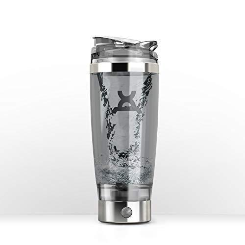 PROMiXX iX-R Electric Shaker Bottle. 600 ml Vortex Mixer, BPA-frei, inklusive NUTRIPOD Supplement Storage System, abnehmbarer wiederaufladbarer Motor & USB-Kabel