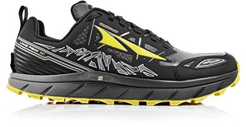 Altra Footwear Men's Lone Peak 3.0 Neoshell Trail Running Shoe,Black/Yellow,US 1