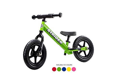 Strider ST-S4GN - 12 Sport Balance Bike, Ages 18 Months to 5 Years, Green