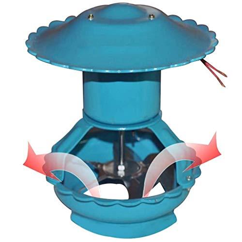 GuoYQ Bombas Extractoras de Humo para Chimeneas, Ventilador Extractor de Chimenea, Ventilador de Tiro Inducido por Techo, Extractor de Chimenea Bomba de Humo, 100 Vatios