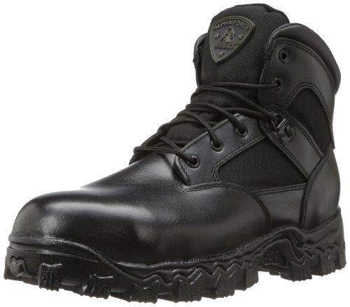 Rocky Men's Alpha Force 6 Inch Steel Toe Work Boot,Black,10 W US