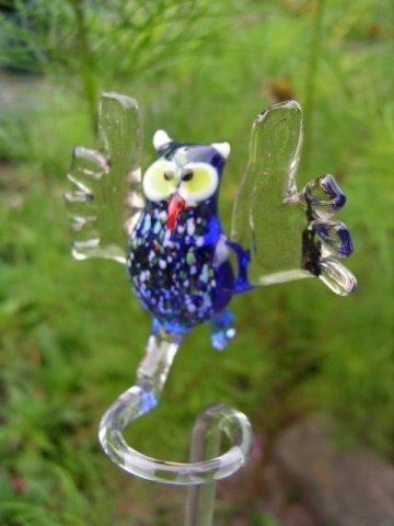 Unbekannt Hibou Bleu orchidée en Forme de Chouette