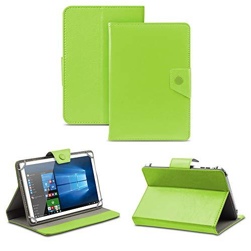 NAUC Robuste Tablet Schutzhülle für Captiva Pad 10 3G aus Kunstleder Tasche Hülle Standfunktion Cover Hülle Universal, Farben:Grün