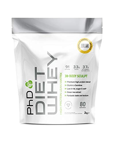 PhD Nutrition Diet Whey Protein Powder, Vanilla Cream, 2 kg