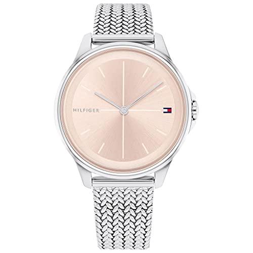 Tommy Hilfiger Damen Analog Quarz Uhr mit Edelstahl Armband 1782355