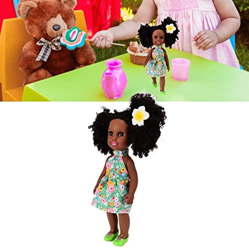Shanrya Bambole per Bambine, Bambola Nera per Bambina 14 Pollici Afroamericana Lavabile in Silicone Vivido Gioca con Bambole Giocattolo per Bambini di 3+ Anni