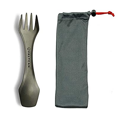 Valtcan Titanium 3-in-1 Utensil Fork Spoon Knife