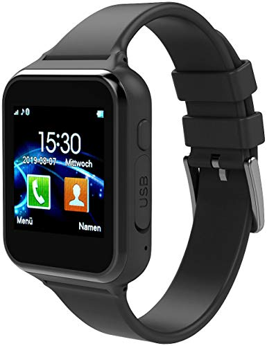 simvalley MOBILE Handyuhr: 2in1-Handy-Uhr & Smartwatch für Android, Touch-Display, Bluetooth, App (Smartwatch mit SIM Karte)