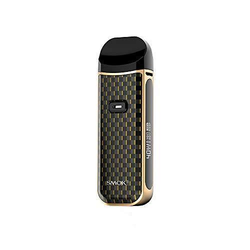 SMOK Nord 2 Pod Kit Kit completo de cigarrillo electrónico 1500mAh 4.5ML- Tabaco San sin nicotina (Oro)