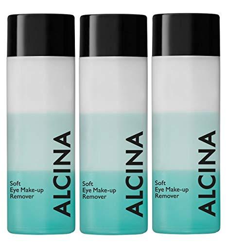 3er Dekorative Kosmetik Alcina Soft Eye Make Up Remover 100 ml