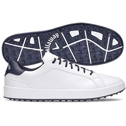 Callaway Men's Del Mar Golf Shoes, White/Navy, 10, D