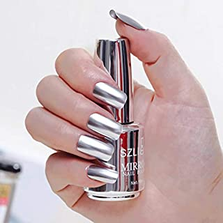 ISHOWTIENDA 100% Brand New Metallic Nail Polish Magic Mirror Effect Chrome Harmless Long-Lasting Nail Art Polish Varnish 18ml Metallic Nail Polish Magic Mirror Effect Chrome Nail Art Polish (IS12)