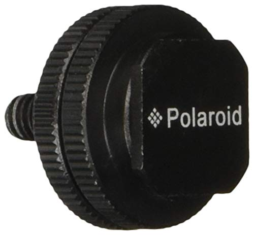 Polaroid 1/4 Tripod Mount Screw to Flash Hot Shoe Adapter for Camera, Monitor, LED Lights & Other Accessories