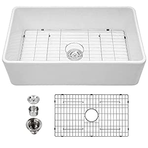 Kichae White Apron Front Kitchen Sink