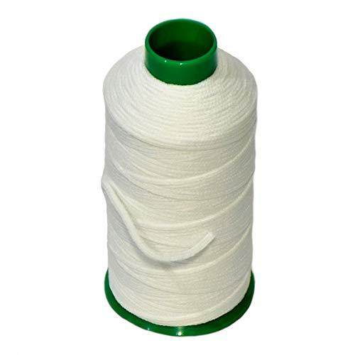 Matsa Cono 100m Cordón Mascarillas, Goma 3mm para Costura, Manualidades, DIY, Cuerda Hilo Elástico para Coser, Ropa, Poliéster, Blanco, Único