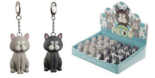 Kat miaut Licht und Ton Kitty Cat Keyring Pussycat Torch Keychain