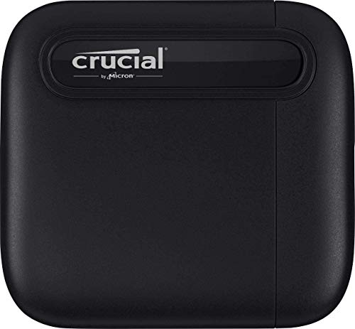Crucial CT500X6SSD9 X6 500Go Portable SSD – Jusqu'à 540Mo/s – USB 3.2 – Lecteur d'état solide externe, USB-C
