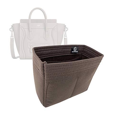 Bag Organizer for Celine Nano Luggage - Premium Felt (Handmade/20 Colors)