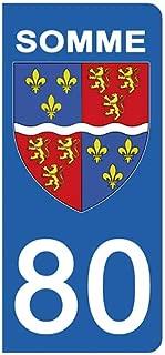 42 Stickers recouvert dun pelliculage sp/écifique pour Resister aux intemp/éries aux Rayons UV. DECO-IDEES 2 Stickers pour Plaque dimmatriculation Blason Loire- Stickers Garanti 5 Ans
