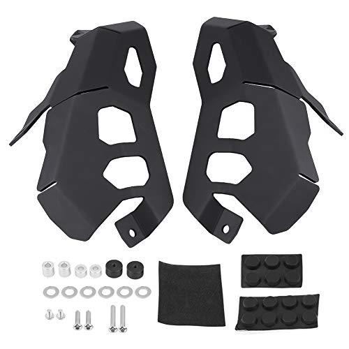 KIMISS 2 * Cubiertas del protector de la Cabeza del cilindro de la Culata del motor de la Motocicleta para R1200GS LC 2013-2017 (Negro)