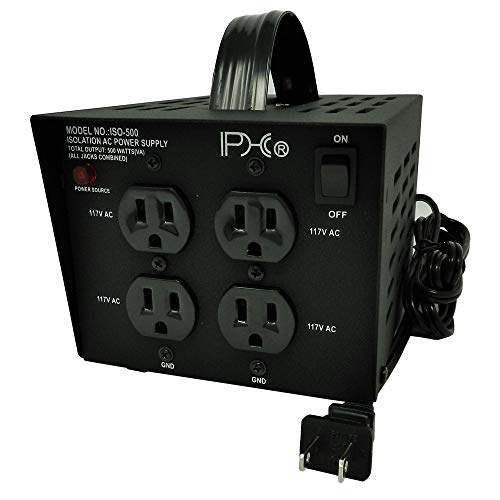 PHc ISO-500 500 Watts AC Isolation Transformer with Pass-Through Grounding