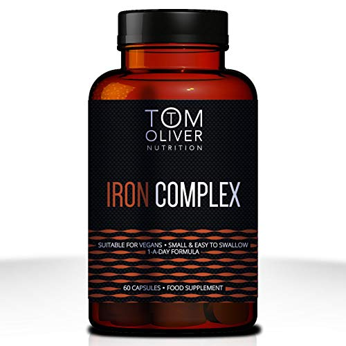 Tom Oliver Nutrition - Iron Complex (60 Capsules) 1 a Day Formula