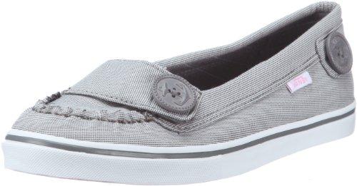 Vans Ashland VJLG5OW, Damen Ballerinas, Grau (Textile Grey/White), EU 36 (US 6)