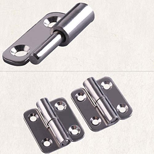 RVS 304 vlagvorm Afneembare Scharnier, 1,5/2 / 2,5 inch, for aluminium deuren Badkamer hek badkamer demontabele scharnieren (Color : 2.5 inch right)