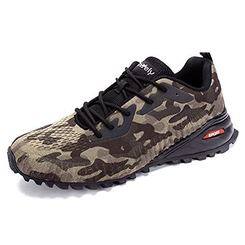 Kricely Men's Cross-Training Shoes Fashion Lightweight Nonslip Running Tennis Shoes Casual Shoes for Walking Camouflage