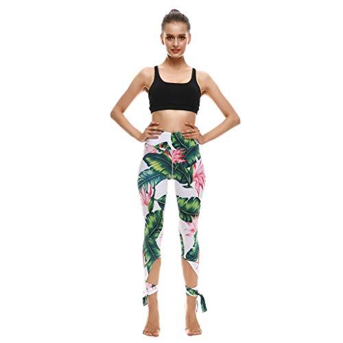 Damen Lässige Sport Fitness Yoga, die Ballett Riemchen Yogahosen mit Hohe Taille drucken, Damen Leggings, Classics Stretch Workout Fitness Jogginghose Eaylis