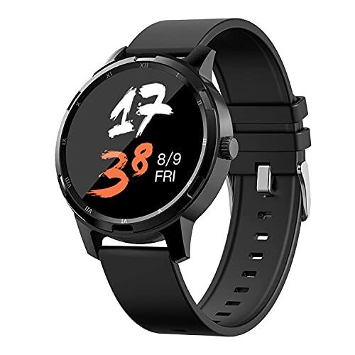 Smartwatch LIDOFIGO wasserdichte Fitnessuhr mit Pulsuhr Stoppuhr Blutdruck Messgeräte Schrittzähler Fitness Tracker für Damen Herren für iOS Android Handy Schwarz