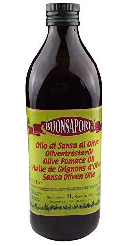 Buonsapore - Italienische Olivenöl Mischung mit Oliventresteröl ideal für Kochen und Braten gut geeignet für höhere Temperaturen (1 Liter)