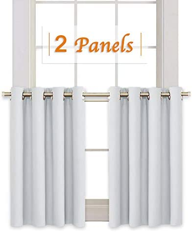 RYB HOME Window Decoration Curtain Tiers Valances Set Grommet Top Small Curtains for Kitchen product image