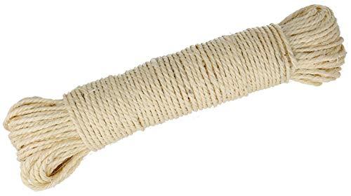 Lantelme Sisalseil 50 Meter EIN Naturprodukt Sisal für Katzen Kratzbaum Seil zur Reparatur der Säulen Katzenkratzbaum 3974