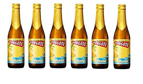 6 Flaschen Mongozo Banana Exotic Beer 3,6% Vol.a 330ml inc. 0.48€ MEHRWEG Pfand Bier + Banane