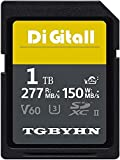 Professional - Tarjeta de memoria SD de 1 TB, 1024 GB, UHS-II, clase 10, tarjeta de memoria SDXC,...