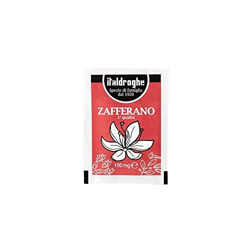 ITALDROGHE ZAFFERANO  Confezione da 10 buste in polvere | 1 Gr. Spezia pregiata ricca di proprietà benefiche e di minerali come potassio, magnesio, calcio e fosforo, potente antiossidante