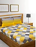 Friends Startup 120 TC Handprinted Cotton Block Print Bedsheet with 2 Pillow Cover