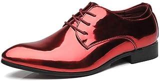 أحذية رجالية من الجلد وأصابع مدببة أحذية عمل عادية مناسبة لحفلات الزفاف