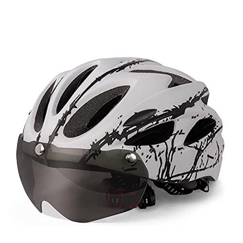 Peakfeng Casco de Bicicletas, Casco Protector Riding General Helmet Road Bike Helmet Hombres y Mujeres Casco (Color: Negro)