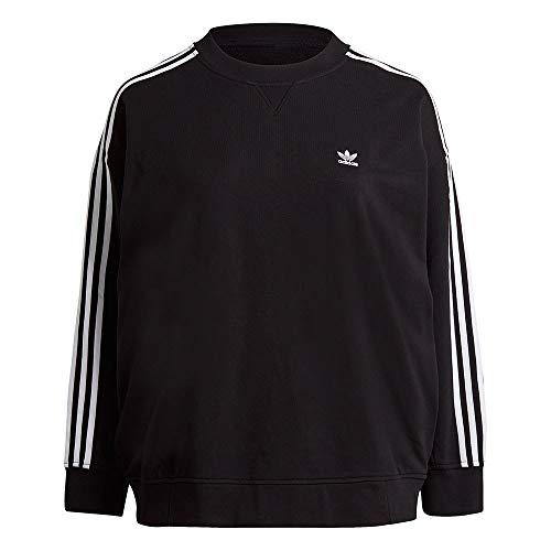 adidas Sweatshirt, black, 2X Womens