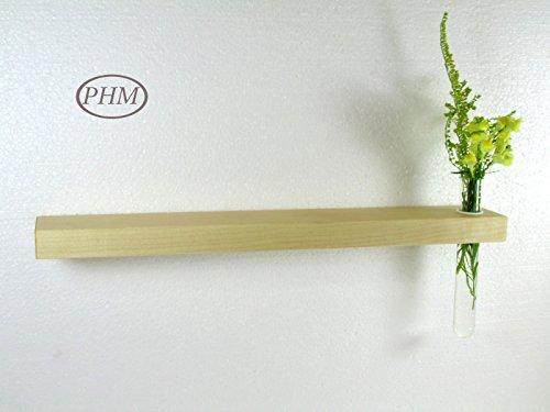 Mini Wandregal mit Vase Ahorn 40 cm